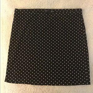 Mini polka dot skirt